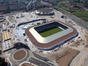 SPIT projektiranje, Stadion Stozice v Ljubljani - jeklena stresna konstrukcija