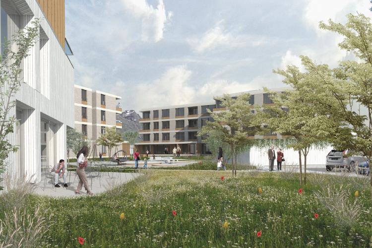 Multi appartment building in Bled, GT arhitekti